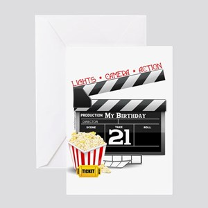 21st Movie Birthday Greeting Card
