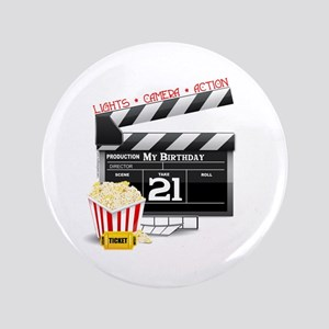 "21st Movie Birthday 3.5"" Button"