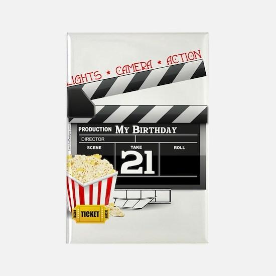 21st Movie Birthday Rectangle Magnet