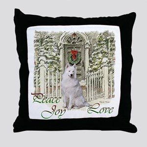 Samoyed Christmas Throw Pillow