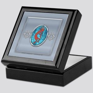 Kokopelli on Silver Tiled Keepsake Box