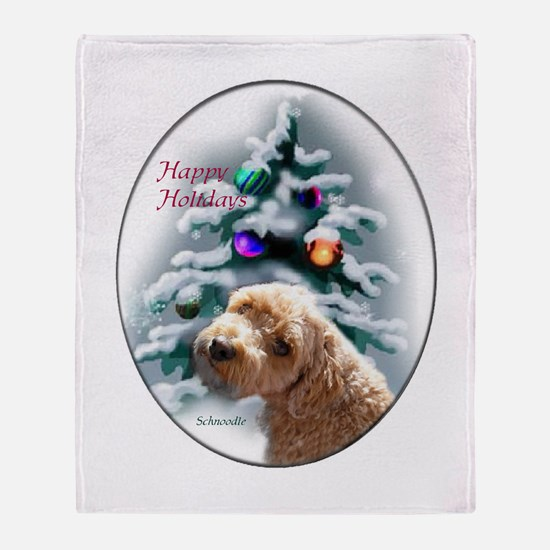 Schnoodle Christmas Throw Blanket