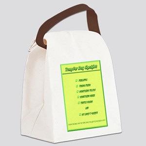 Transfer Day Checklist Canvas Lunch Bag