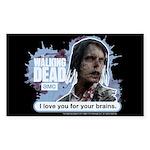 Walking Dead Love Your Brains Sticker