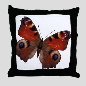 Eurpoean Peacock Butterfly Throw Pillow