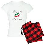 Kiss Me I'm Italian Romantic Women's Light Pajamas