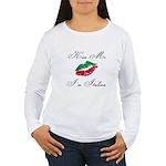 Kiss Me I'm Italian Romantic Women's Long Sleeve T