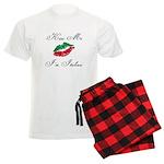 Kiss Me I'm Italian Romantic Men's Light Pajamas