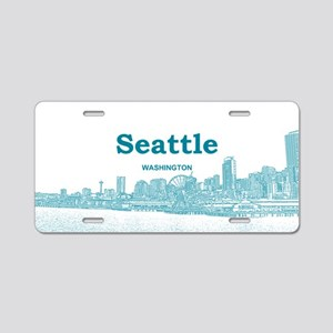 Seattle Aluminum License Plate