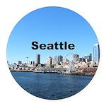 Seattle Round Car Magnet