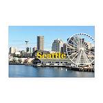 Seattle Rectangle Car Magnet