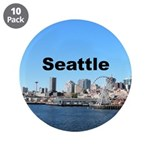 """Seattle 3.5"""" Button (10 pack)"""