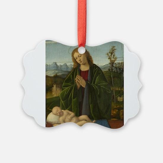 Marco Basaiti - Madonna Adoring the Child Ornament