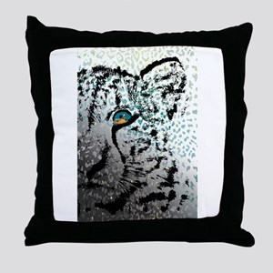 elephant in tiger's eye Throw Pillow
