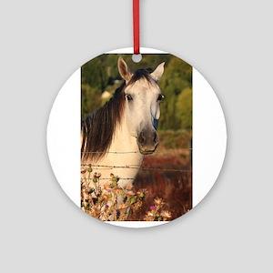 The White Stallion Ornament (Round)