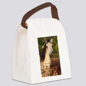 The White Stallion Canvas Lunch Bag