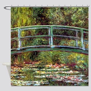 Monet Bridge at Giverny Shower Curtain