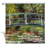 Monet bridge at giverny Shower Curtains