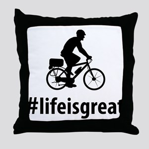 Bicycle Police Throw Pillow