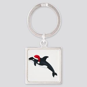 Christmas Whale Keychains