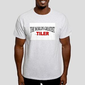 """The World's Greatest Tiler"" Ash Grey T-Shirt"