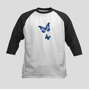 Blue Morpho Butterflies Kids Baseball Jersey