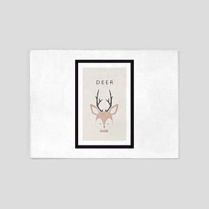 i love deer 5'x7'Area Rug