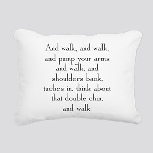 And Walk Rectangular Canvas Pillow