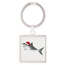 Santa - Shark Square Keychain