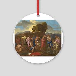 Nicolas Poussin - The Baptism of Christ Ornament (
