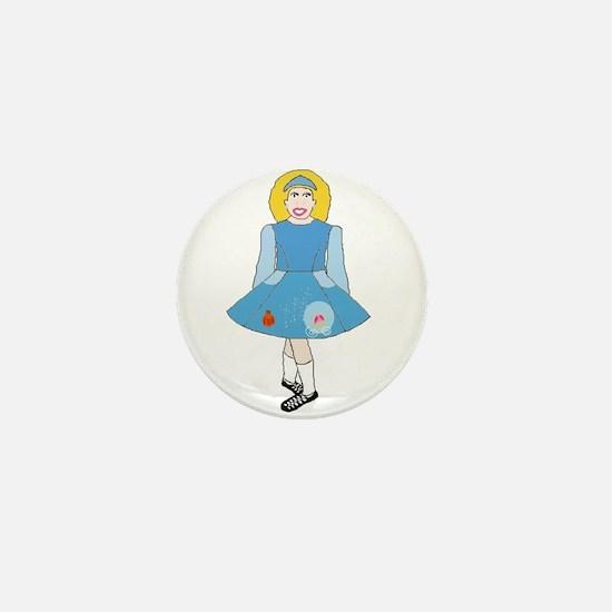 Cinderella Dancer Mini Button