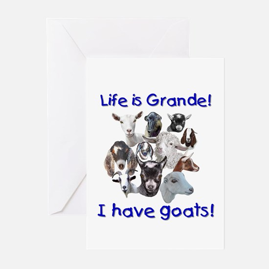 GOATS-Life is Grande Greeting Cards (Pk of 10)