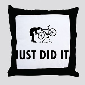 Bicycle Mechanic Throw Pillow
