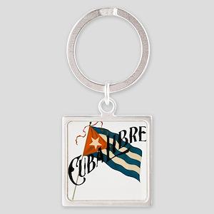 Cuba Libre Square Keychain