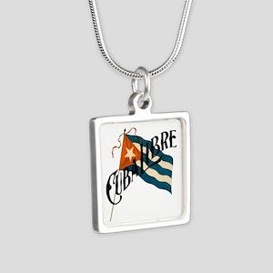 Cuba Libre Silver Square Necklace