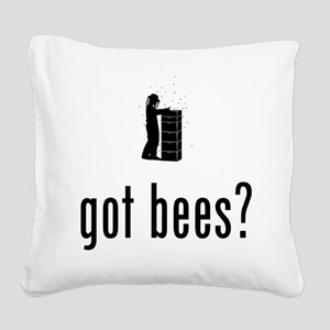 Beekeeper Square Canvas Pillow