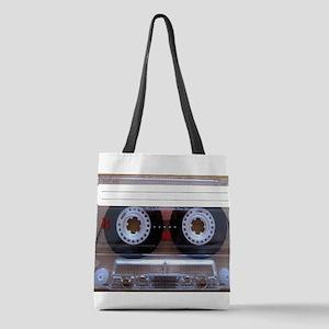 Cassette Music Tape Polyester Tote Bag