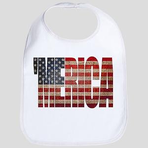 Vintage MERICA U.S. Flag Bib