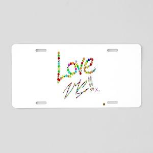 LOVE ME !! Aluminum License Plate