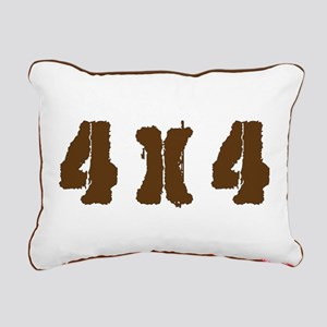 Off Road 4 x 4 Rectangular Canvas Pillow