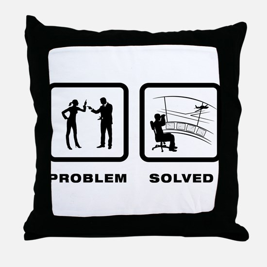 Air Traffic Control Throw Pillow