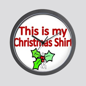 This is my Christmas shirt Wall Clock