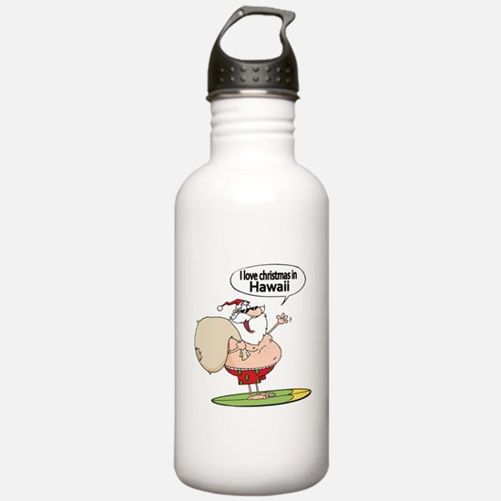Surfing Santa Water Bottle