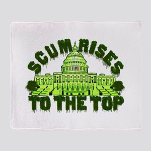 Scum Rises To The Top Throw Blanket
