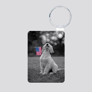 4th of July Patriotic Puppy Keychains