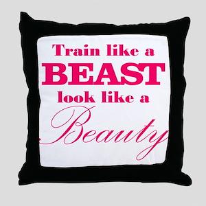 Train like a beast look like a beauty pink Throw P