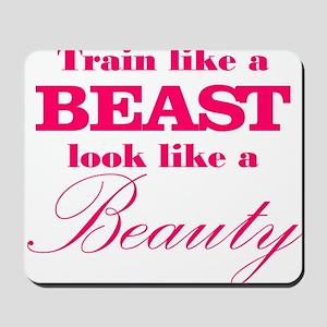 Train like a beast look like a beauty pink Mousepa