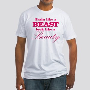 Train like a beast look like a beauty pink T-Shirt