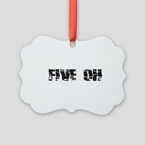 five oh broken Picture Ornament