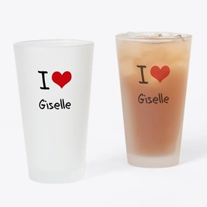 I Love Giselle Drinking Glass
